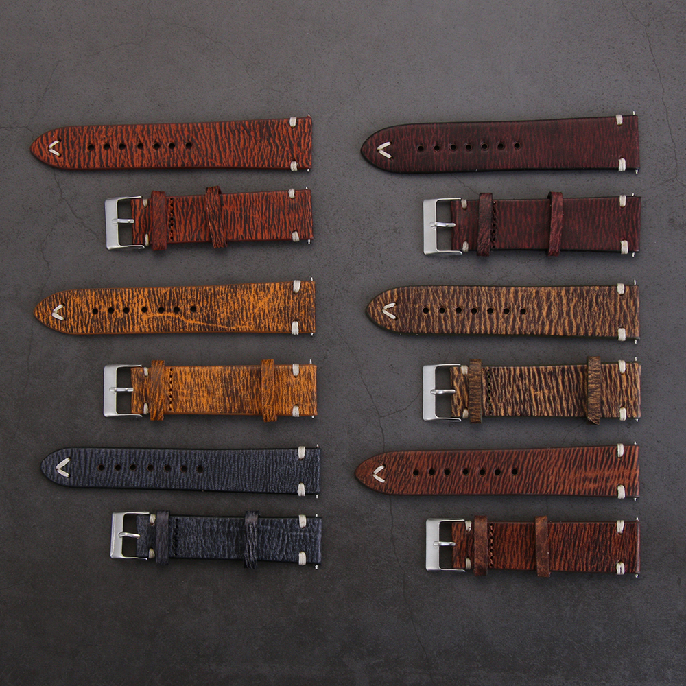 Handmade Watch Band Leather Watch Strap Vintage Watchband with Stitching 18mm 20mm 22mm 24mm Watch Band Accessories