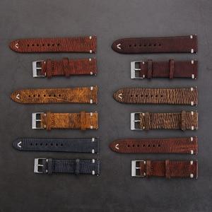 Handmade Watch Band Leather Wa