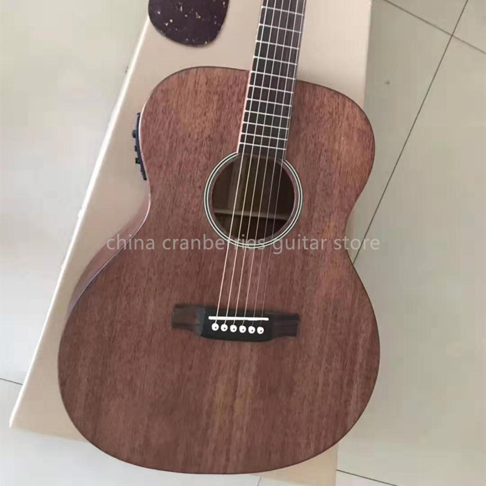 Factory custom 41 inch mahogany wood acoustic guitar OM style classical M model fisnman 301 pickup bone nut free shipping Guitar     - title=
