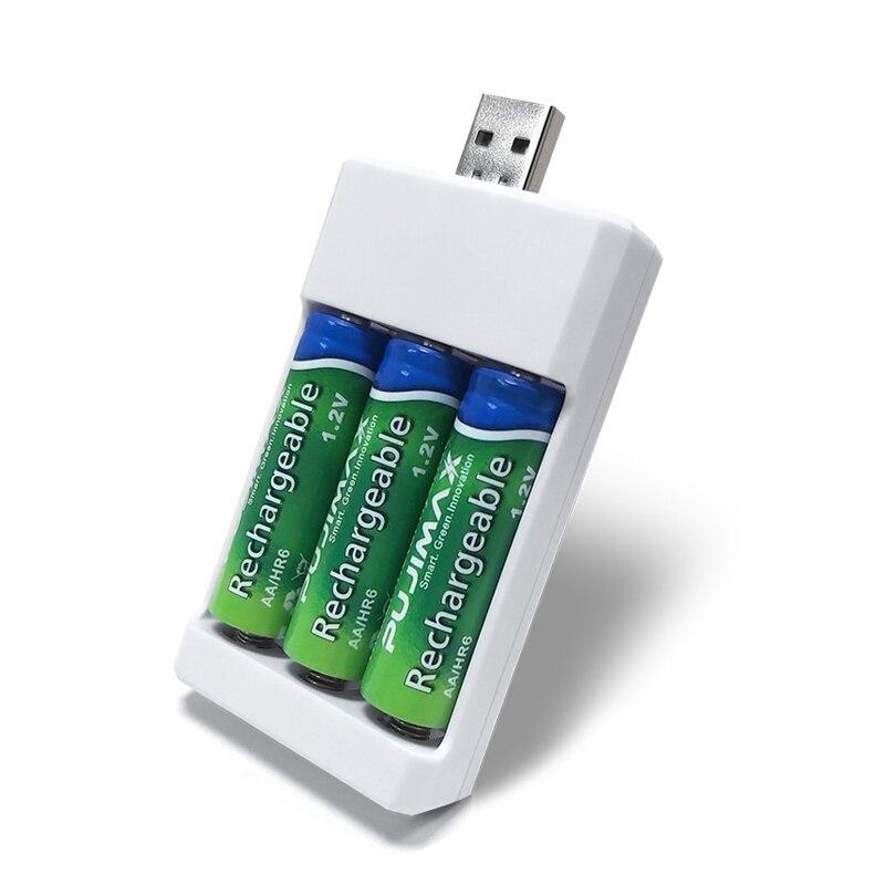 PUJIMAX 3-solt зарядное устройство с usb-разъемом зарядное устройство для аккумуляторов AA AAA универсальные аксессуары для электроинструментов