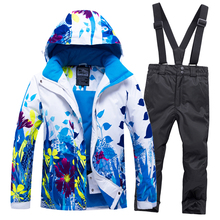 Pants Jacket-Set Ski-Suit Girls Thickened Waterproof Sports Hot-Sale Winter Children's