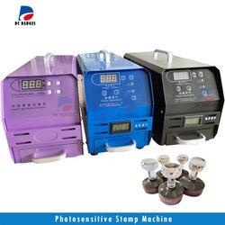 Lichtempfindliche flash Stempel maschine günstige preis 3 lampen gummi foto stanzen flash stempel, der maschine