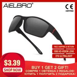 AIELBRO okulary rowerowe sportowe okulary przeciwsłoneczne mężczyźni rower MTB okulary ochrona UV400 rowerowe okulary do biegania okulary przeciwsłoneczne w stylu
