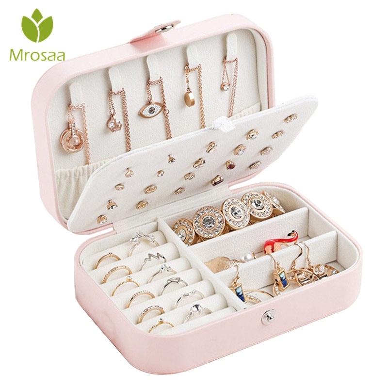 Koreański styl świeże proste kolczyki dla dziewczyn płyta biżuteria pudełko typu organizer kolczyki skórzane pierścień wielofunkcyjne pudełko do przechowywania biżuterii Bin w Skrzynki i pojemniki od Dom i ogród na