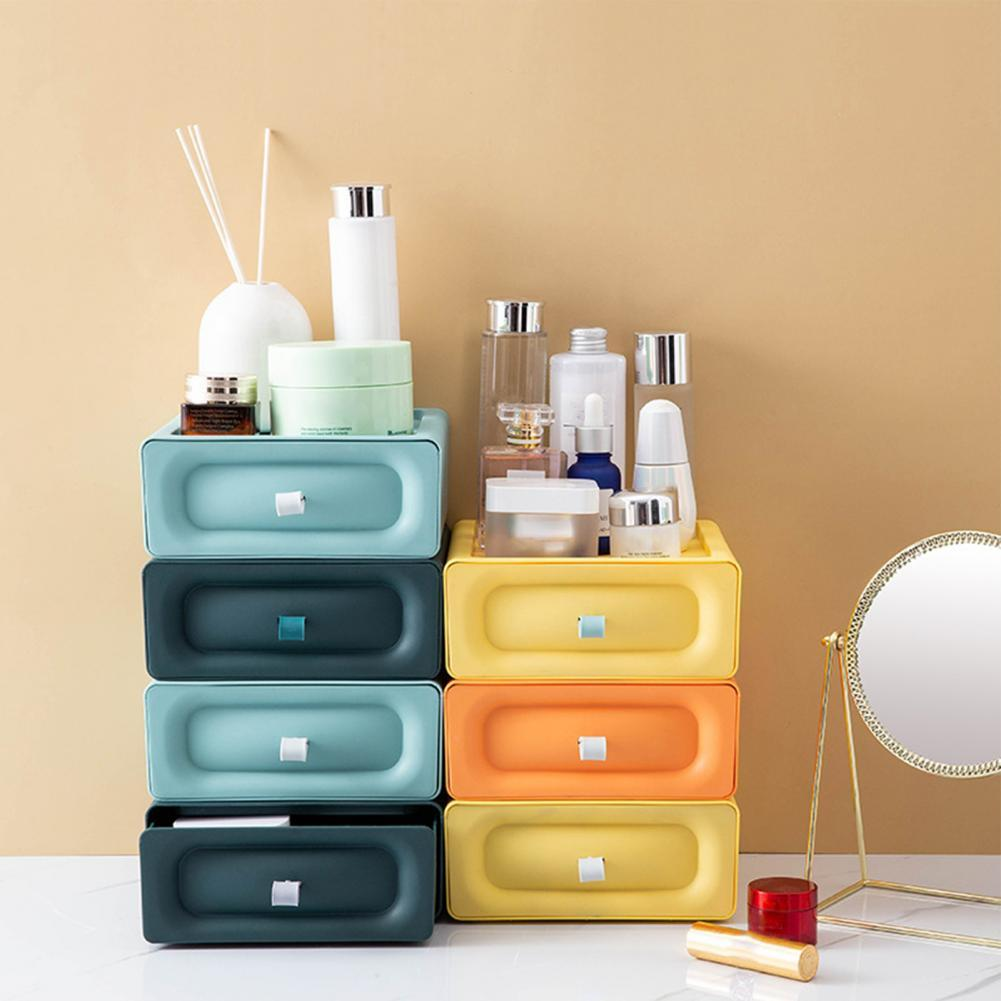 Storage Box Large Capacity Stackable PP Multi-function Storage Cabinet for Home Organizer Storage Bins Drawers Combination
