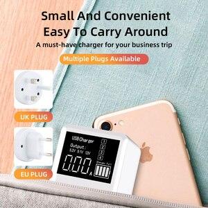 Image 3 - 30ワット電話急速充電器qc 3.0マイクロusbタイプc電源アダプタledディスプレイ3 usbポート + 1タイプcポートiphone android用アダプタ
