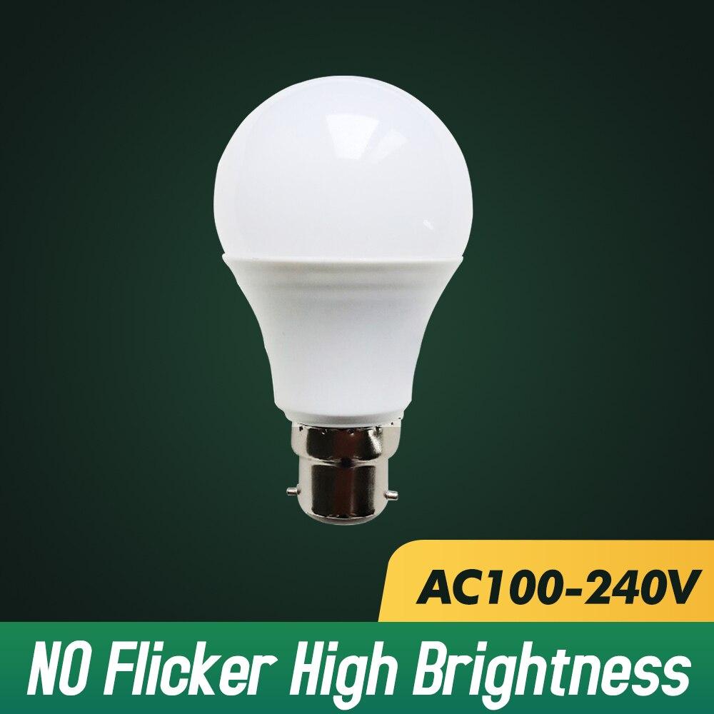 5pcs LED Lamp Bulb E27 Lampada No Flicker 3W 6W 9W 12W 15W 18W 21W 110V 220V Cold White Warm White Bombilla Lamparas Led Light
