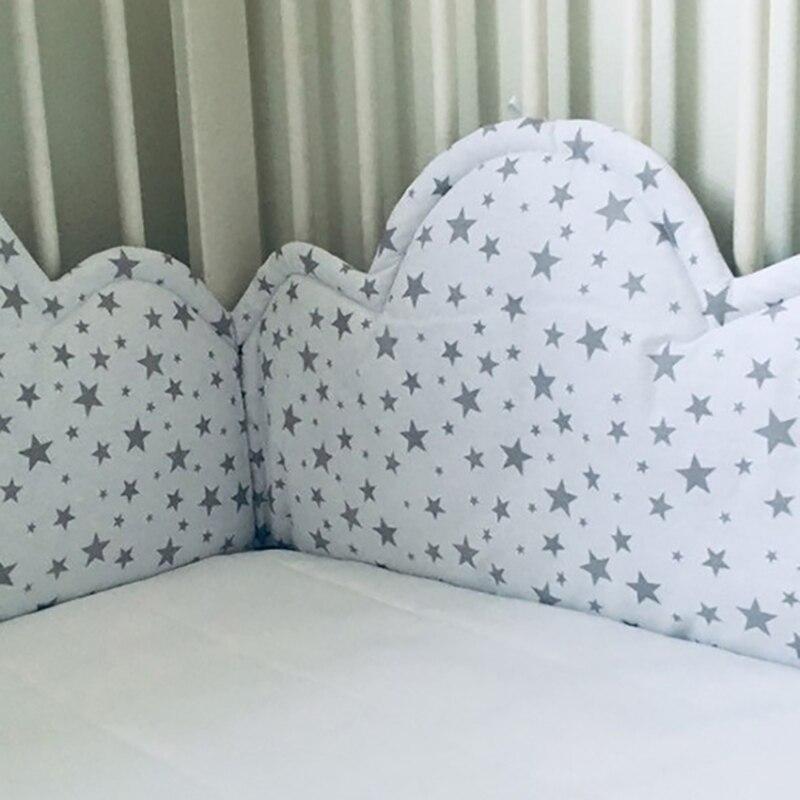 Baby Bett Krippe Stoßfänger Wolken Förmigen Weiche Baumwolle Neugeborenen Stoßstangen Kind Sicheren Kinderbett Protector Komfortable YBD017