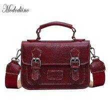Mododiino Vintage Crossbody Bag For Women Flap High Quality Leather Messenger Female Shoulder Handbags DNV1227