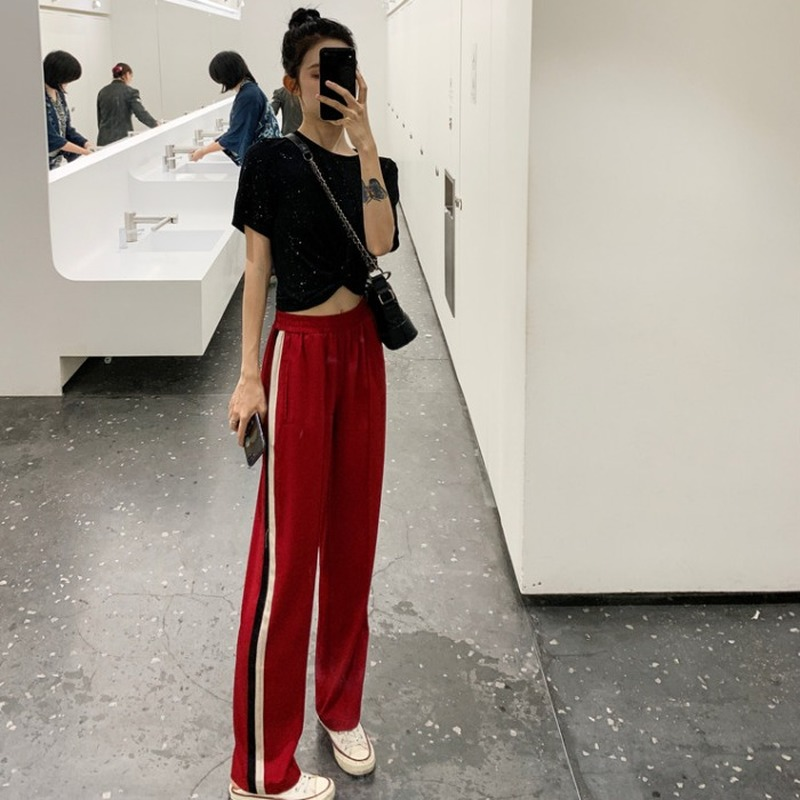 Outfit Set Women Korean Chic Girl Summer Short Sleeve T Shirt Gymnastic Pants Pendant Sense Loose Pants Two Piece Set For Women Women S Sets Aliexpress