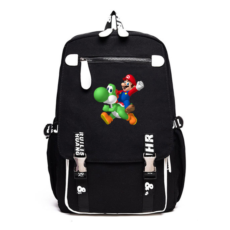 Cartoon Super Mario Backpacks Laptop Backpacks For Teenager Unisex SchoolBags Casual Bagpack Male Mochila Mochilas Escolar