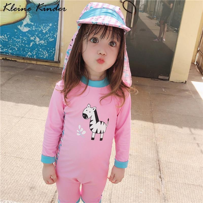 Baby Swimsuit Long Sleeve Swimming Suit for Kids Girl UPF50 Beach UV Clothing Children's Swimsuit for Girls Infant Bathing Suits