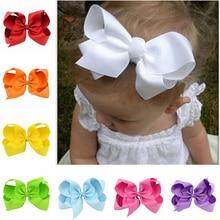 6 Inch Hair clips Small Girls Big Bow Headband Newborn Bebe Accessories Elastic Bands Cute Baby Headdress