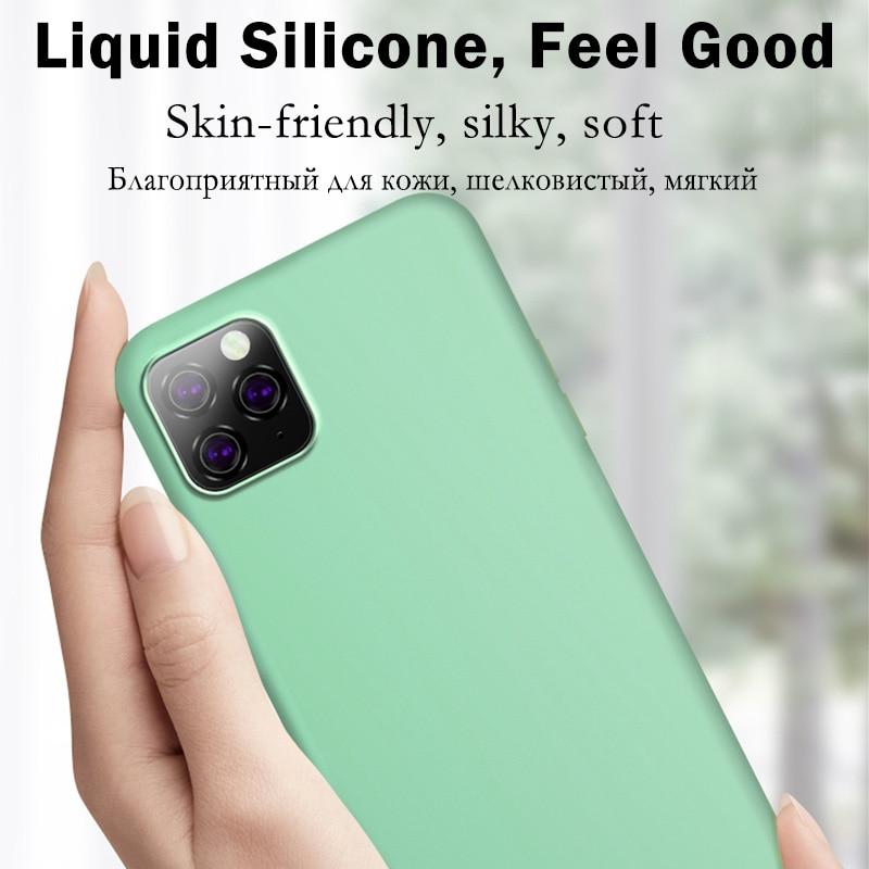 Original Liquid Silicone Luxury Case For Apple iPhone 11 12 Pro Max mini 7 8 6 6S Plus XR X XS MAX 5 5S SE Shockproof Case Cover 4