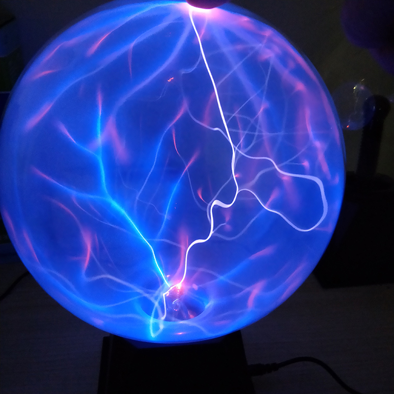Artificial Lightning Ball Ion Ball Tesla Coil Glow Ball Arc Ball Touch Lightning Can Be Voice Controlled 12V
