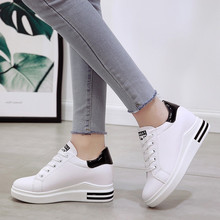 Female White Platform Shoes for Women Sneakers Women Wedges Shoes for Women Flats High Heel Wedge Ladies Shoes Zapatillas Mujer sorbern white platform shoes knee high boots for women wedge high heel ladies shoes booties womens shoes custom colors big size