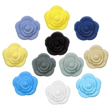Necklace-Accessories Baby Teether Silicone Beads Jewelry Rose-Flower Joepada Bpa-Free