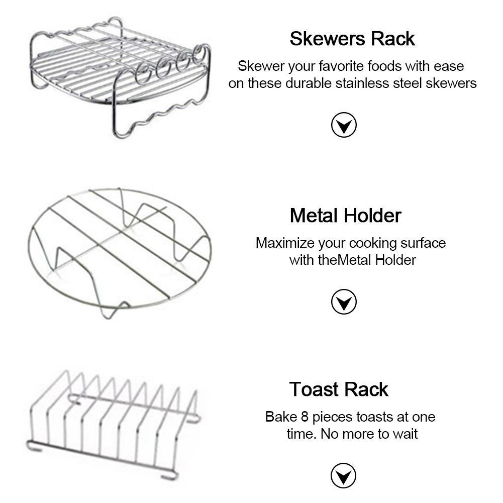 apto para airfryer 5.2-6.8qt cesta de cozimento