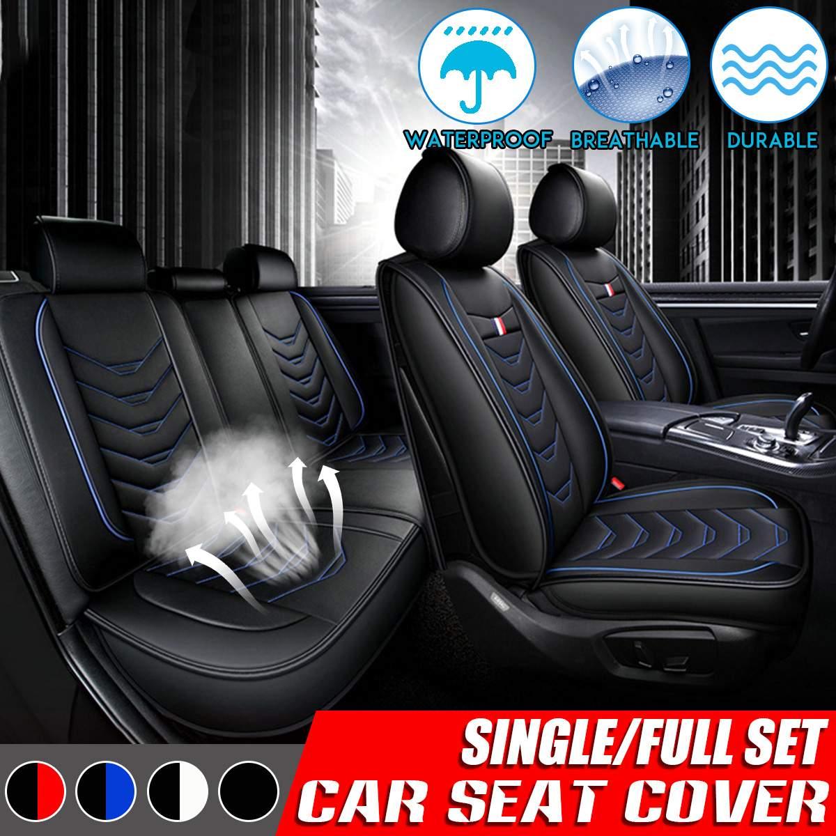Универсальный чехол для автомобильных сидений искусственная кожа автомобильные чехлы для сидений автомобиля Подушка тормозных колодок пр...