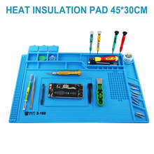 Heat Insulation Silicone Soldering Pad Magnetic Repair Maintenance Platform Desk Mat for Electronics Computer Welding Tool
