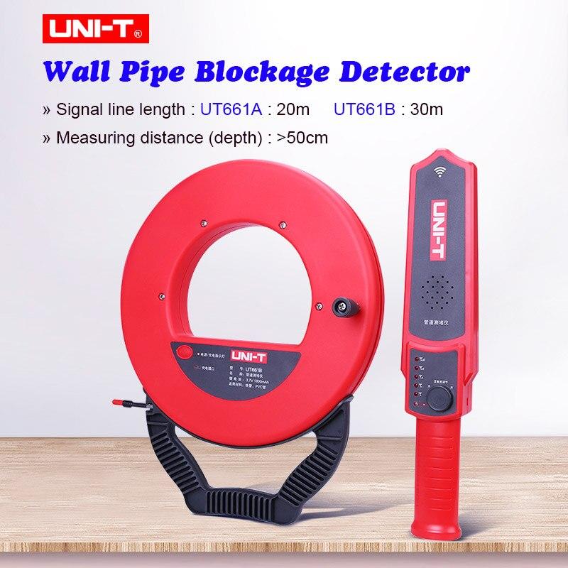 Mur PVC fer tuyau blocage détecteur UNI-T UT661A/B mur tuyau blocage détecteur Pipeline blocage colmatage Scanner plombier outil