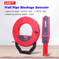 Wall PVC Iron Pipe Blockage Detector UNI T UT661A/B Wall Pipe Blockage Detector Pipeline Blocking Clogging Scanner Plumber TOOL