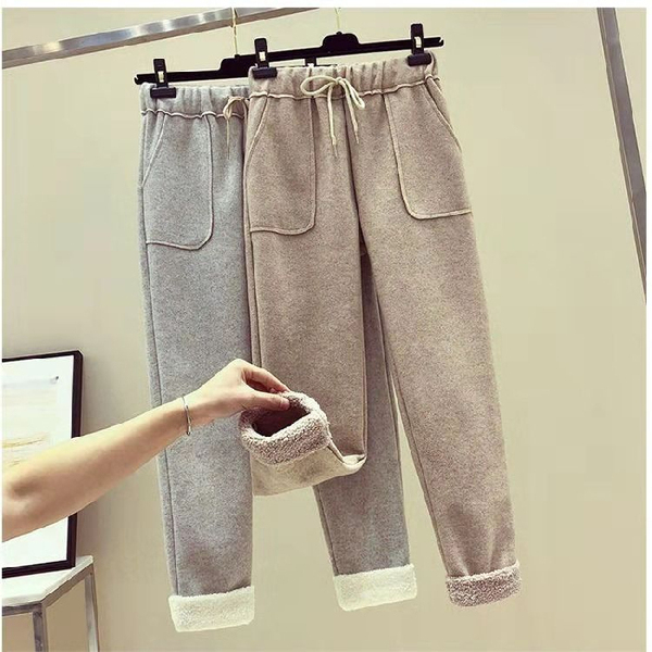 2019 Autumn Women Casual Sweatpants Workout Trousers Solid Thick Warm Winter Female Sport Pants Running Pantalones Mujer