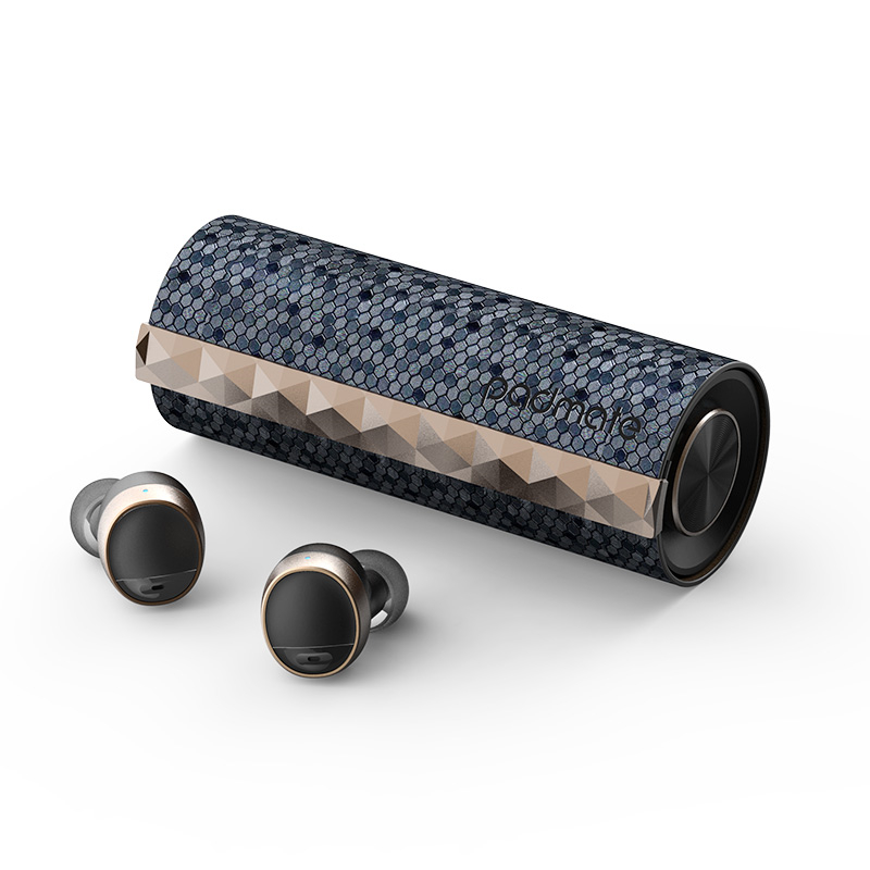 Écouteurs Bluetooth 5.0 sans fil | PaMu Padmate 1907 authentique, oreillettes TWS étanches IPX6, casque avec boîte de chargement