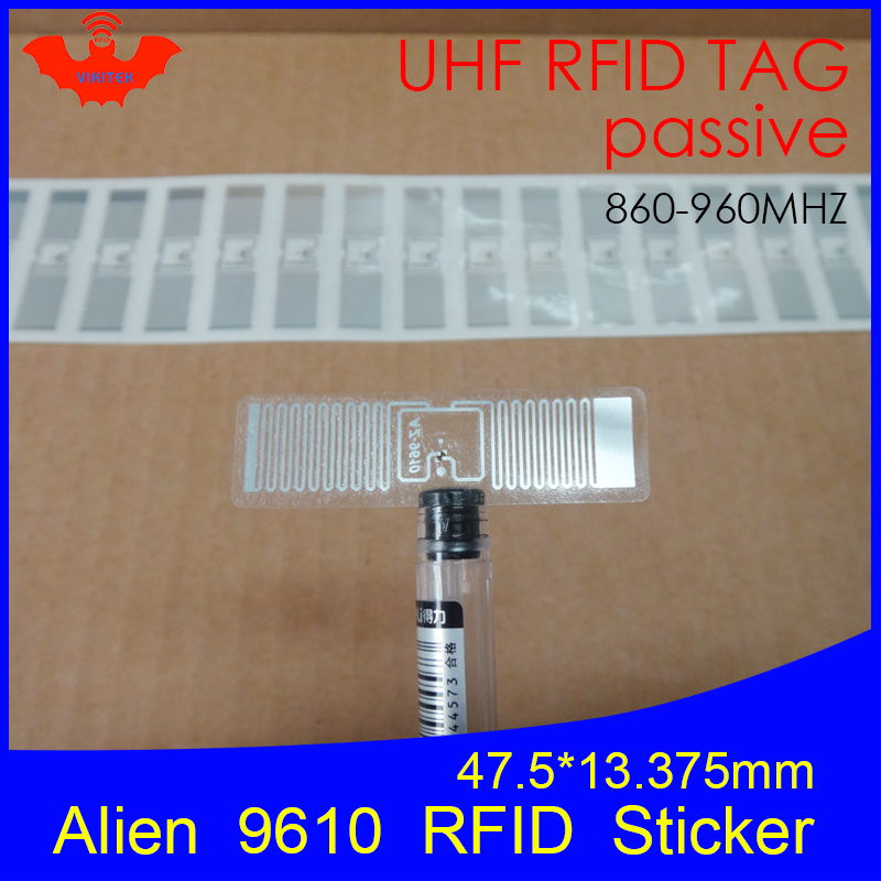 UHF <font><b>RFID</b></font> tag Alien 9610 inlay 915mhz <font><b>900mhz</b></font> 868mhz 860-960MHZ Higgs3 EPC Gen2 ISO18000-6c smart karte passive <font><b>RFID</b></font> tags label image