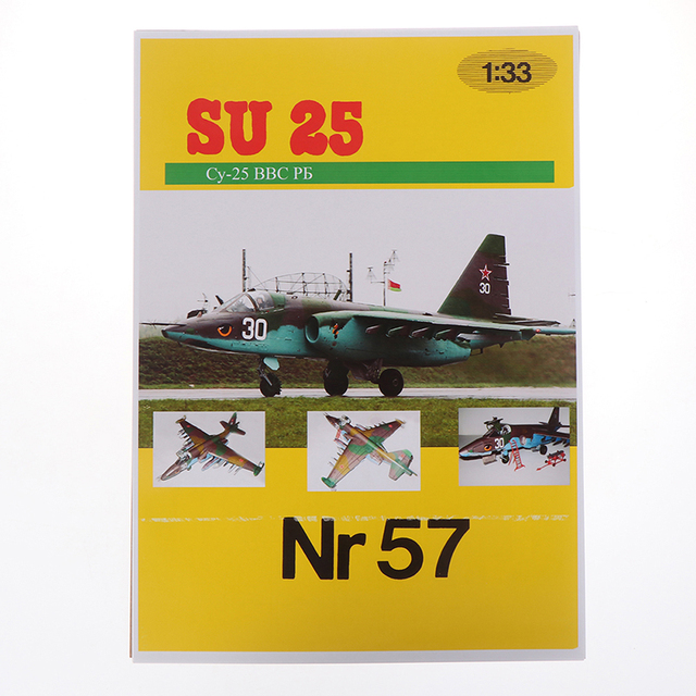 1PC 1:33 Su-25 Fighter Aircraft DIY 3D Paper Model Building Sets Construction Toys Educational Toys 6
