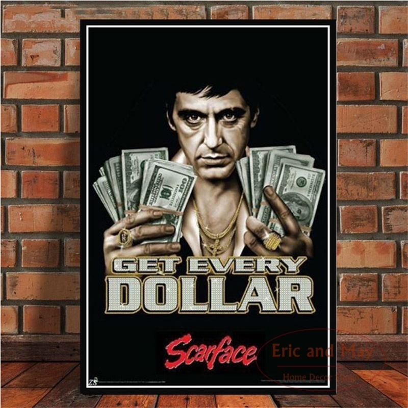 AL PACINO <font><b>Gangster</b></font> Movie Art <font><b>Poster</b></font> Canvas Painting Wall Picture For Home Decor <font><b>Posters</b></font> and Prints image