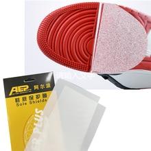 Обувь протектор для подошвы Стикеры для самоклеящейся сцепление с поверхностью земли защитное низ подошвы стельки износостойкие и противо...