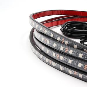 Image 4 - Niscarda Music Remote Control RGB LED Strip Under Car Tube Underglow Underbody System Neon Light DC12V IP65 5050 SMD
