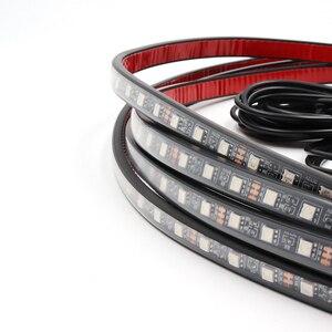 Image 4 - Niscarda tira de luz LED RGB con Control remoto para coche, sistema de iluminación interior para tubo de coche, luz de neón DC12V IP65 5050 SMD