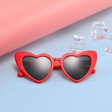 Новые Детские поляризованные солнцезащитные очки TR90 Girl sheart, солнцезащитные очки, силиконовые защитные очки, подарок для детей, детские очки UV400