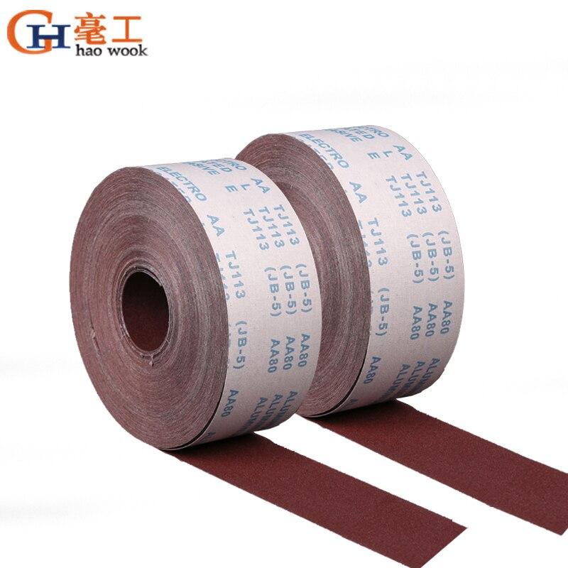 Rouleau De Tissu /Émeri Rouleau De Papier Abrasif Grain 120 Abrasifs Pour Pon/çage Pon/çage Polissage