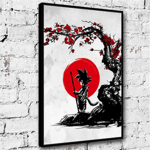 Nordic Style Modern Home Wall Artwork Dragon Ball Goku Canvas Painting Pictures Prints Modular For Living Room Decoration Poster