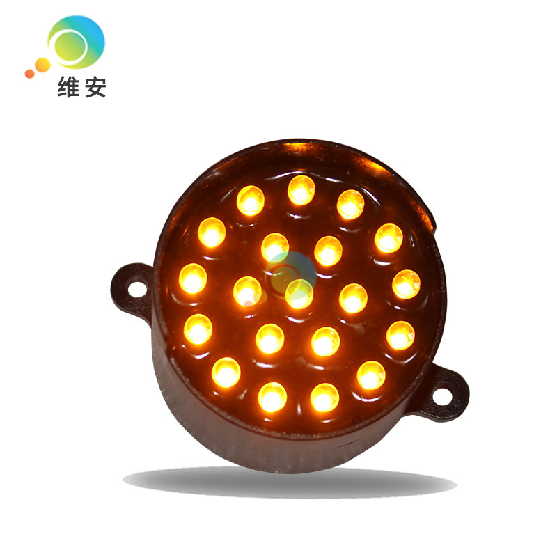 DC12V High Brightness Wholesale Price 52mm Diameter Yellow LED Pixel Cluster Traffic Light Replacement