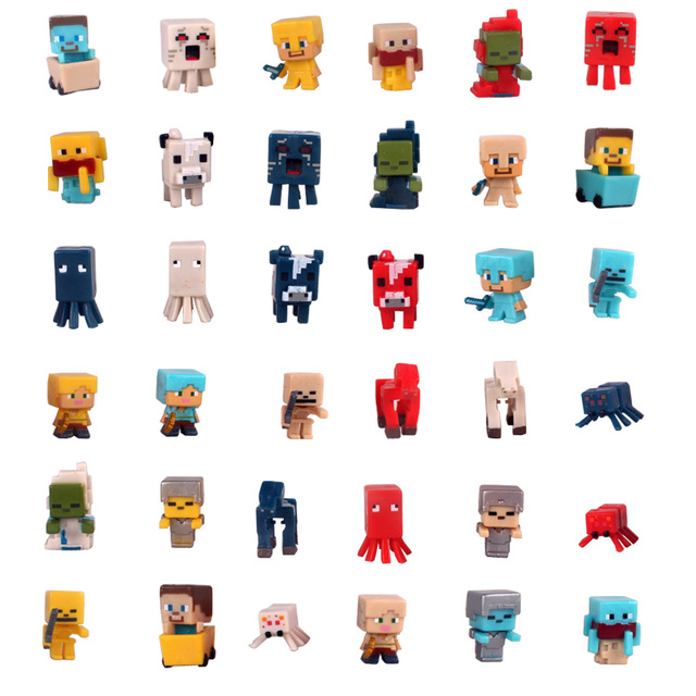2020 New Building Construction Toys Minecrafte Building Blocks KeyChain Game Fans Bricks Key Chain Bag Pendant Key Ring Kids Toy