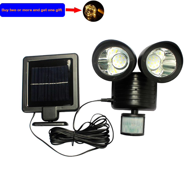 22 LED Outdoor Solar Light Dual Detector Motion Sensor Security Lighting Waterproof Street Garden LED Wall Lights Dropshipping
