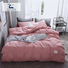 Liv-Esthete Luxury Pink Bedding Set Soft Printed Duvet Cover Flat Sheet Double Queen King Bed Linen Quilt