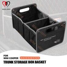 Trunk box Car styling For BMW mini cooper countryman clubman R60 R55 R56 R52 R50 F60 F56 F55 ect trunk storage box basket Bag