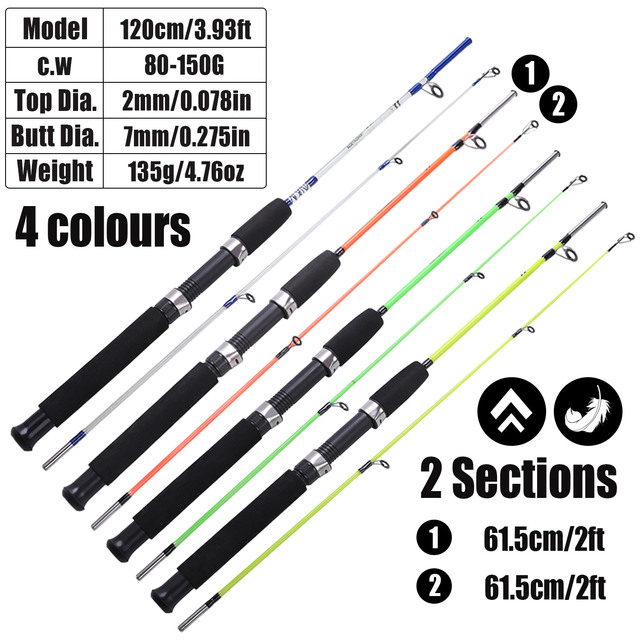 Best No1 Travel Boat Fishing Rod Fishing Rods cb5feb1b7314637725a2e7: Light Green|Orange|White|Yellow