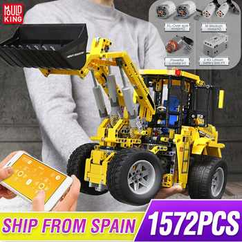 Mould King Technic series APP Remote control truck L350F wheel loader Model Building blocks Bricks Kids Toys Christmas Gifts - DISCOUNT ITEM  20 OFF Toys & Hobbies