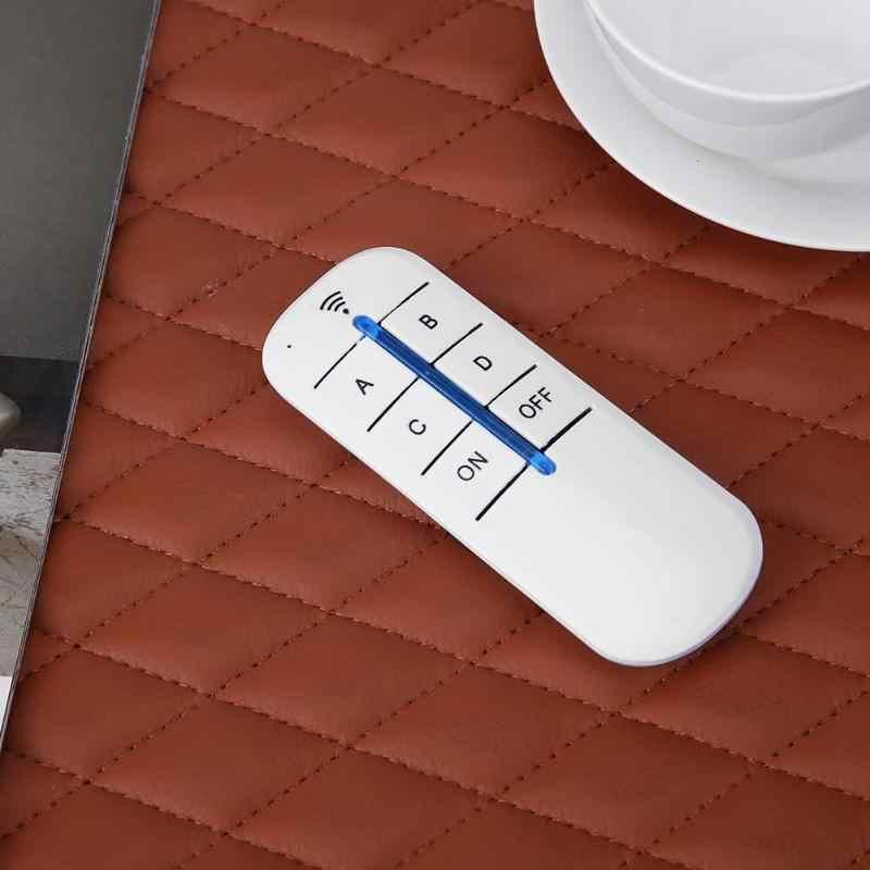 4 รีเลย์ 220V ดิจิตอลอัจฉริยะ Wall Wireless รีโมทคอนโทรลสวิตช์