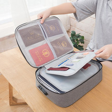 Large Capacity Multi-Layer Document Tickets Storage Bag Certificate File Organizer Case Home Travel Passport Briefcase with Lock