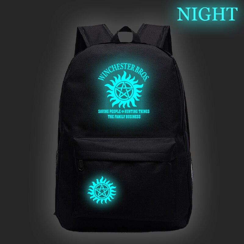 Venda quente sobrenatural luminoso mochila masculino feminino