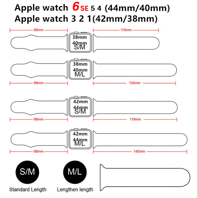 Silicone strap for apple watch band 6 44mm 42mm 40mm 38mm smart rubber watchband bracelet iwatch band for series 6 se 5 4 3 2 se