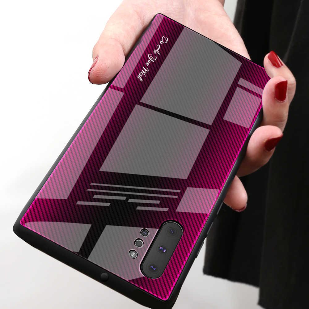 De vidrio templado a Color de caso para Samsung Galaxy A50 A70 A30 S10 S9 S8 más A20 Nota 10 Pro 8 9 a90 A10 funda de teléfono cubierta de vidrio duro