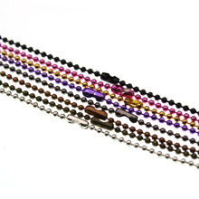 10pcs/lot 70cm length 1.5mm Metal Ball Beads Chain Necklace Bead Connector fit Pendant Necklaces DIY Jewelry Making